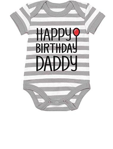 thday Daddy Cute Boy/Girl Infant Dad's Gift Baby Bodysuit 6M Gray/White ()