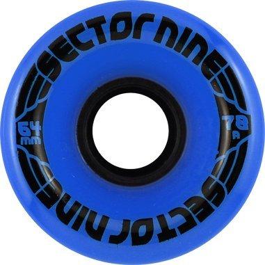 Sector 9 Longboards Nine Ball Formula Blue Longboard Wheels - 64mm 78a (Set of 4)