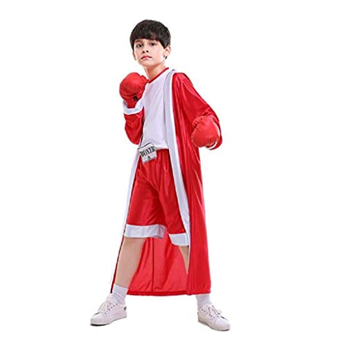 (Children Boxing Boxer Halloween Costume Cosplay Dress-Up Role Play Suit for)