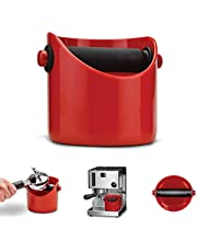 "Dreamfarm Grindenstein Coffee Knock Box, 4.3"" x 4"", Red, DFGR1280"