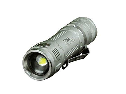 800 Champagne - Sunwayman T26C Ultra-Compact Flashlight - Cree XM-L2 U3 LED - 800 Lumens - Uses 1 x 18650 or 2 x CR123A or 2 x 16340 - Champagne DIM