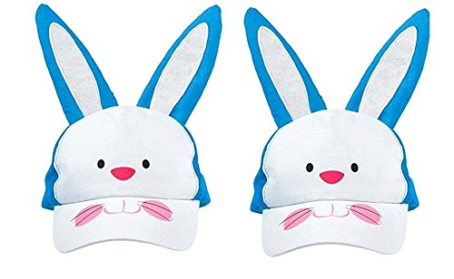 Egg-stra Special Children's Easter Bunny Cap Party Accessory, Foam, 10'' x 6'' (2 Pack)