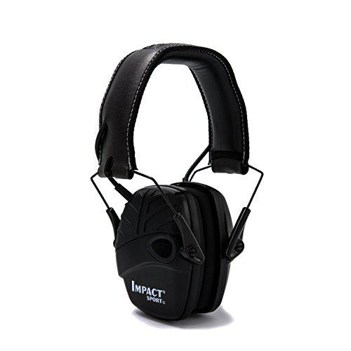 Honeywell 1034490 Howard Leight Casque Antibruit Impact Sport Black, SNR 25 1