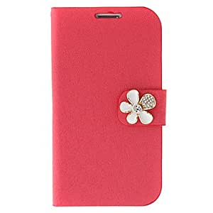 JOE Silk Print and Flowers Painting Pattern Rhinestone Protective Pouches for Samsung Galaxy S3 I9300 , Pink