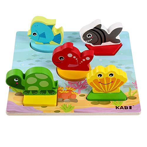 Witspace Baby 3D Wooden Puzzle, Kids Educational and Learning Toy Blocks (D -
