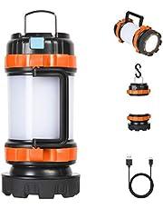 Flintronic Led-campinglamp, 1000 lumen, oplaadbare handlamp, waterdichte zoeklamp met 4 lichtmodi en USB-kabel, 3600 mAh acculamp, powerbank voor kamperen, nachtvissen, jagen