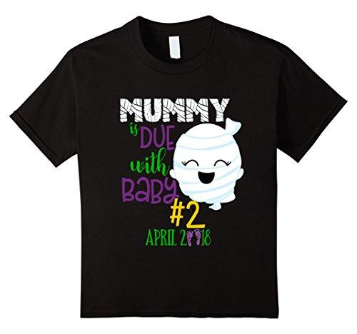 Kids Halloween Shirt Big Brother Sister Mummy Baby 2 April 2018 4 Black