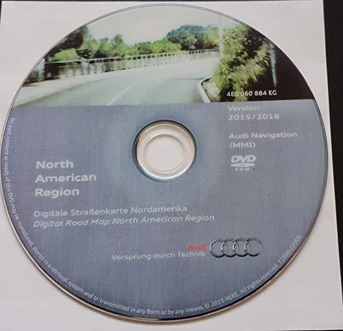 2016 AUDI MMI 2G NAVIGATION SOFTWARE UPDATE CD DVD NORTH AMERICA USA + CANADA GPS ROAD MAP