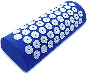 Acupressure Mat and Pillow Set for Back/Neck Pain Relief and Muscle Relaxation (Blue)