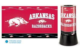 Arkansas Lamp - Wincraft NCAA University of Arkansas Rotating Lamp, 12