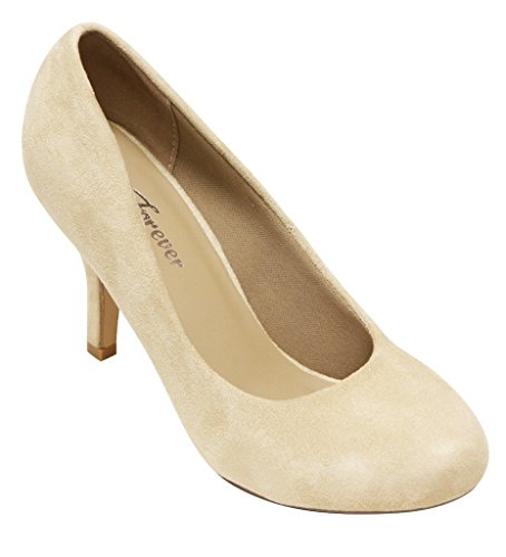 Forever Azusa-54 womens round toe slip on high heel pumps shoes Bg 9