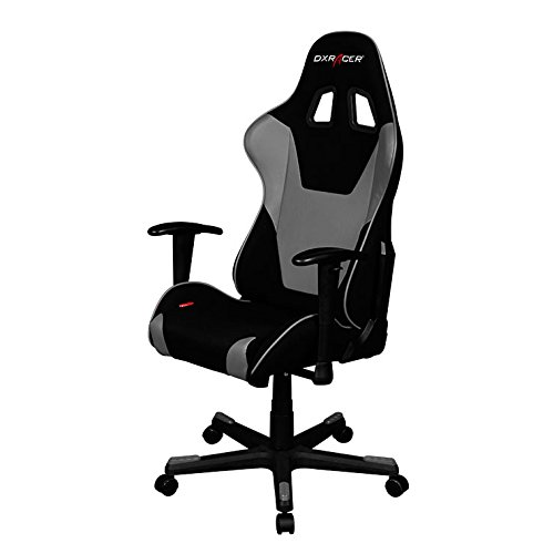 DXRacer Formula Series OH/FD101/NG Racing Seat Office Chair Gaming Ergonomic adjustable Computer Chair with - Included Head and Lumbar Support Pillows (Black, Gray)