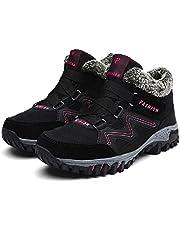Dames Winter Sneeuwlaarzen Thermisch Villi Lederen Platform Anti-slip Enkeloutdoor Wandelschoenen Non-slip Trekking Schoenen Mode Hoge Top Wandellaarzen