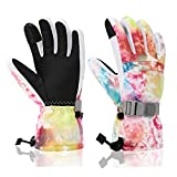 Ski Gloves, Yidomto Winter Waterproof Warm Touchscreen Snow Gloves Mens, Womens, Boys, Girls, Kids (Colorful-L)