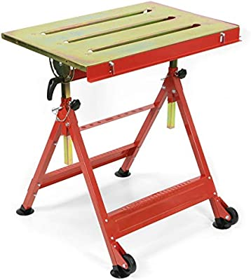 ADJUSTABLE STEEL WELDING WORK TABLE CUTTER GRINDING TABLE MIG TIG WELDER NEW