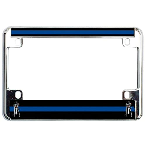 Metal Thin Blue Line License Plate Frame: Amazon.com