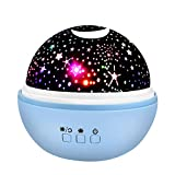 Star Night Light Projector for Kids, Wiki Toys Gifts for 2-10 Year Old Boys Girls Wonderful Quiet Romantic Projector Lamp for Kids The Birthday Present 2018 Christmas New Gifts Blue WKUSXKD02