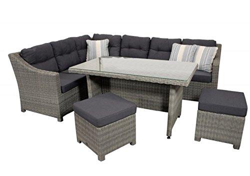 Ratán sintético Lounge Grupo Conjunto Muebles de Jardín Asiento ...