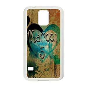C-EUR Customized Print Maroon 5 Hard Skin Case Compatible For Samsung Galaxy S5 I9600