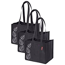 Planet E Collapsible Shopping Bag Black Pack of 3