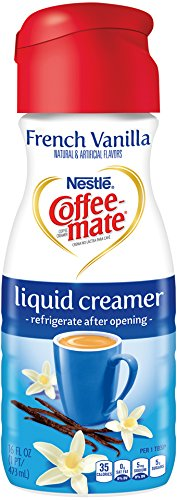 Coffee-mate Coffee Creamer Liquid, French Vanilla, 16 oz., 6 Count