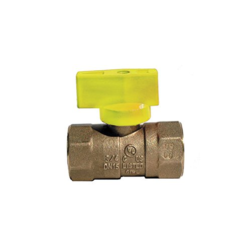 Red-White Valve 38RW5200T Gas Ball Valve T Handle (2 Piece), 3/8'' by Red-White Valve