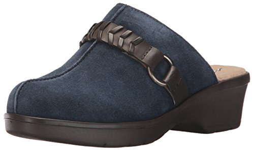 Easy Spirit Women's Pierson Mule, Navy Multi Suede, 9 M (Blue Womens Clogs)