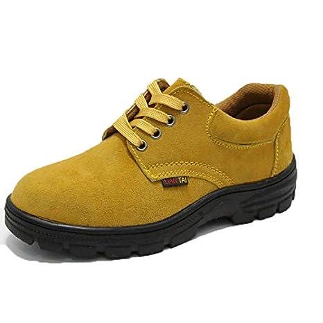 Qiusa Zapatos de Seguridad antiperforantes para Hombres Zapatos de Soldador Ligeros Transpirables para el Trabajo (Color : Amarillo, tamaño : EU 45): ...