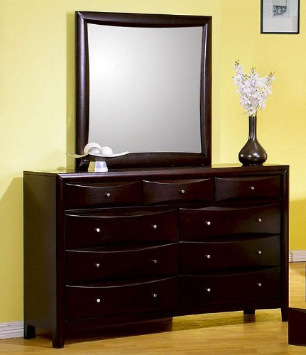 Phoenix Dresser with Mirror in Deep Rich Cappuccino ()