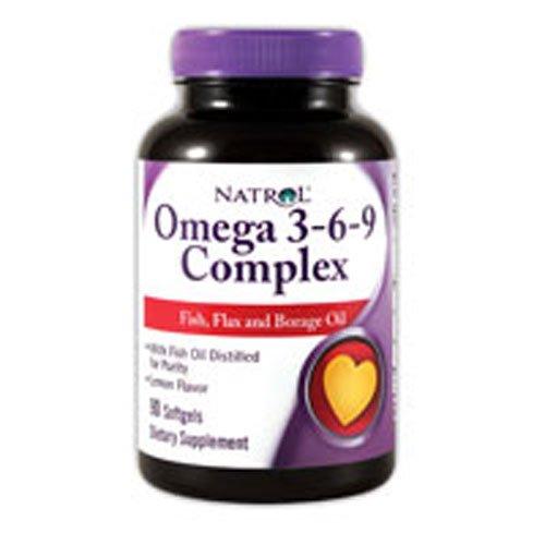 Natrol Omega 3 3-6-9 Complex 90 SFGL (pack of 3)