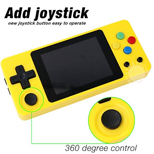 crae9kd LDK Second Generation Game Console Mini Handheld Family Retro Games Console Yellow by crae9kd (Image #5)