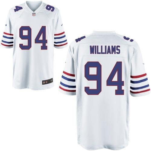 NFL Jersey's Youth Buffalo Bills Mario Williams Nike White Alternate Game Jersey
