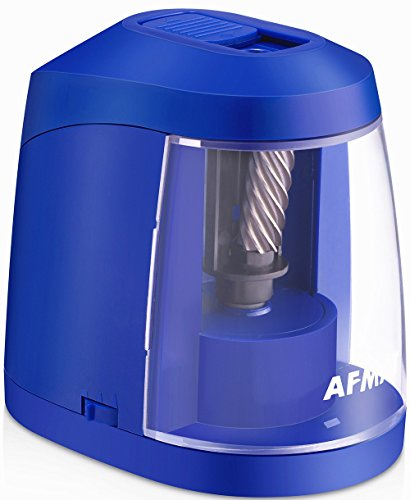 Colored Pencil Sharpener-USB & AC Adapter and Battery Operated Electric Pencil Sharpener, Heavy Duty Helical Blade Sharpener for No.2 and Colored Pencils for Kids, Students, Adults, Artists, Blue