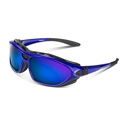 Polarized Sports Sunglasses for Men Women Youth Motorcycle Safety Driving Riding Military Goggles TAC Glasses (Blue) (Best Polarized Motorcycle Goggles)