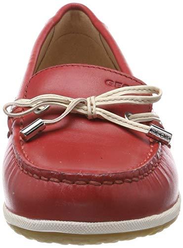 Vega D C7y1q B off scarlet Mocassins Moc Geox Femme loafers White qpx4wx5T