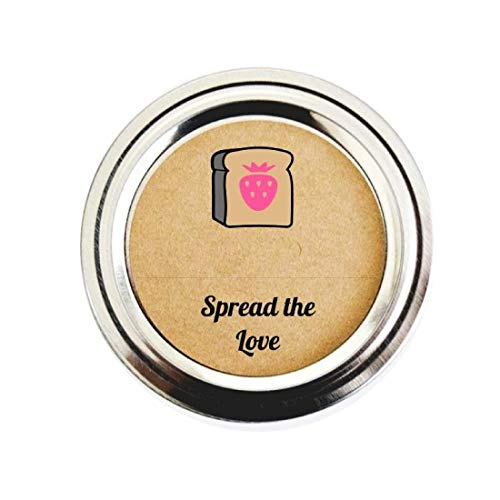 Strawberry Jam Labels Spread the Love by Once Upon Supplies, Jelly Canning Jar Stickers, 2.5
