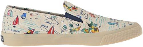 Sperry Top-sider Donna Seaside Novità Sneaker Natural Multi Mappa