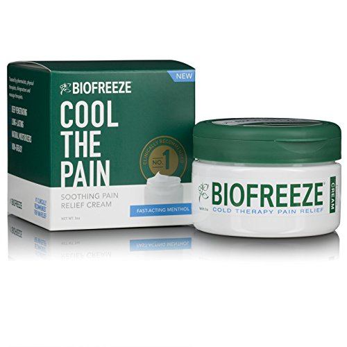 Biofreeze Cream, New Pain Relief Cream from The #1 Clinically Recommended Brand, Advanced Topical Analgesic Pain Reliever, Sore Muscles & Joints, 3 oz. Jar by Biofreeze