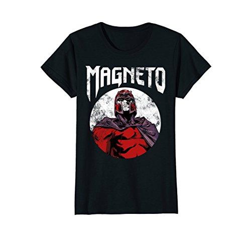 Womens Marvel X-Men Magneto Classic Retro Rock Band Graphic T-Shirt Medium Black