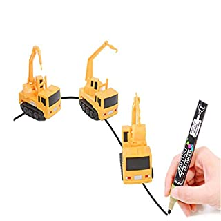 Magic Inductive Truck Toy Follows Line Drawn Inductive Engineering Vehicle Educational Toy Vehicles Gift for Kids & Children 1PC