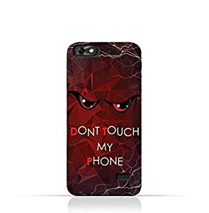 Huawei Honor 4C TPU Silicone Case with Dont Touch My Phone 3 Design