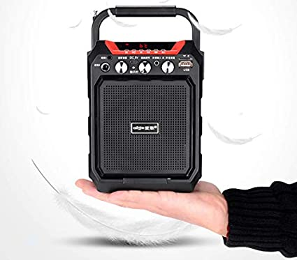 "4/"" Rechargeable  Party Speaker System Karaoke Bluetooth USB//SD//FM//Record"