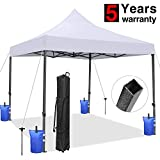 Tentking 10x10 Ez Pop-up Canopy Tent, Commercial Instant Sun Shelter Canopies Tent, Bonus Wheeled Carrying Bag, 4 Weight Bags and 4 Stakes