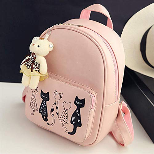 02 Bag Purse Girls Small Female Women Shoulder School Leather Backpacks Teenage 4Pcs Bags PU nUgqwfSB