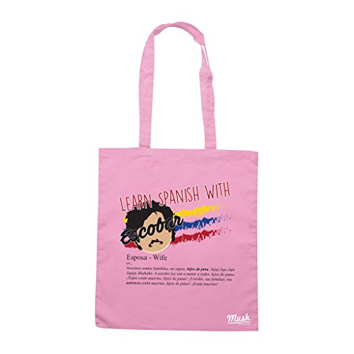 Borsa LEARN SPANISH WITH ESCOBAR - ESPOSA - Rosa - FILM by Mush Dress Your Style