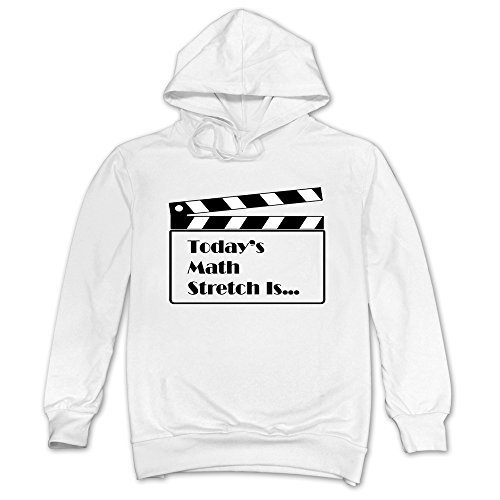 Men Match Stretch Clap Stick Hoodie White 100% -