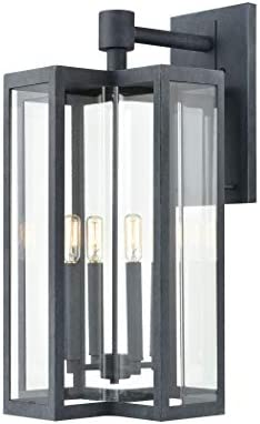 Elk Lighting 45169 4 Bianca 4-Light Aged Zinc with Clear Sconce