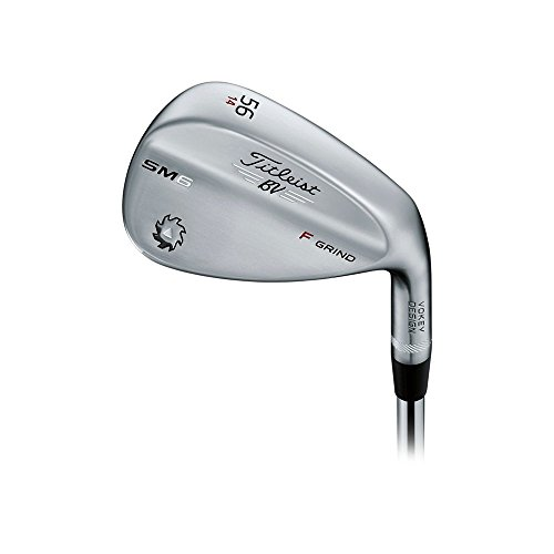 Titleist Vokey SM6 Tour Chrome Wedge Right 56 14 F Grind True Temper Dynamic Gold Steel Wedge
