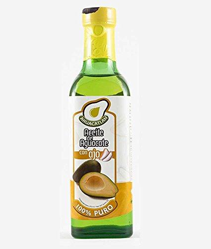 Ahuacatlán Aceite de Aguacate Puro, Sabor Ajo, 250 ml