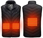 Electric Heated Vest, USB Heating Smart Vest, Lightweight Warm Heating Suit with Three Levels Temperature Cont